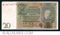 Image #1 of 20 Reichsmark 1929 (22. l.) - B