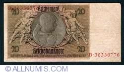 Image #2 of 20 Reichsmark 1929 (22. l.) - B