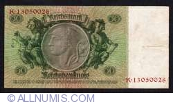 Image #2 of 50 Reichsmark 1933 (30. III.) - A (8 digit serial)