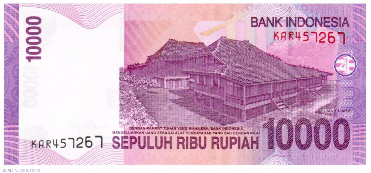 10000 Rupiah 2005 2005 2015 Issues 10 000 Rupiah Indonesia Banknote 1063