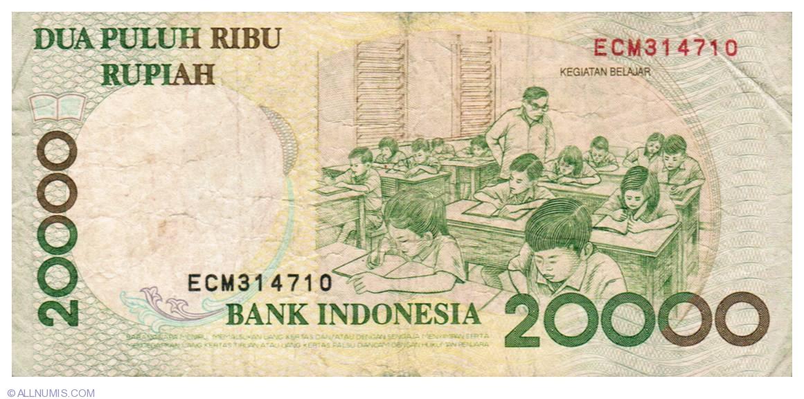 Indonesia P-144 2009 20000 Rupiah Gem UNC