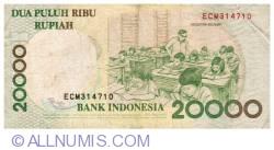 Imaginea #2 a 20000 Rupiah 1998/2004