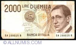 Image #1 of 2000 Lire D.1990 - signatures Carlo Azeglio Ciampi/ Fortunato Speziali