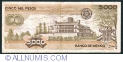 Image #2 of 5000 Pesos 1987 (24. II.) - Serie JR