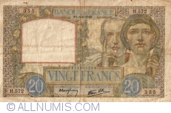 Image #1 of 20 Francs 1940 (6. VI.)