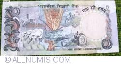 Image #2 of 100 Rupees ND (1985-1990) - signature R. N. Malhotra