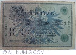 Image #1 of 100 Mark 1908 (7.II.) - D (reissue 1918-1922)