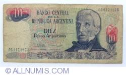 Image #1 of 10 Peso Argentinos ND (1983-1984) - signatures Pedro Camilo López / Enrique Garcia Vazquez