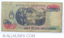 Image #2 of 10 Peso Argentinos ND (1983-1984) - signatures Pedro Camilo López / Enrique Garcia Vazquez