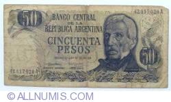 Image #1 of 50 Pesos ND (1974-1975) - signatures Ricardo A. Cairoli / Alfredo Gómez Morales
