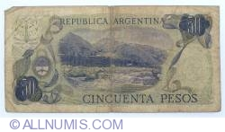 Image #2 of 50 Pesos ND (1974-1975) - signatures Ricardo A. Cairoli / Alfredo Gómez Morales