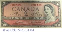 2 Dolari 1954 - semnături Bouey-Rasminsky