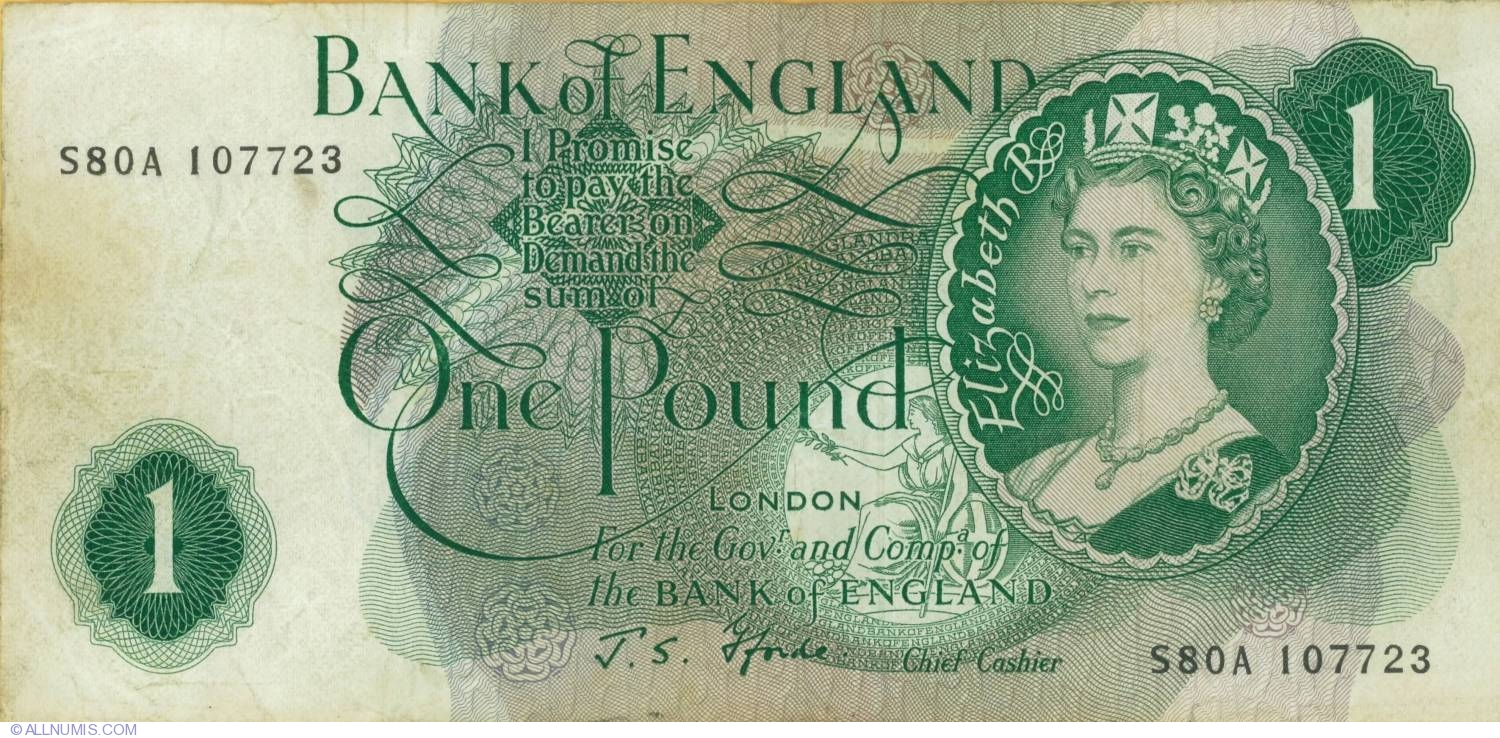 Pound nd 1966 1970 bank of england 1960 1977 nd issue