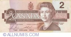 Image #1 of 2 Dollars 1986 - signatures Bonin-Thiessen