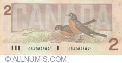 Image #2 of 2 Dollars 1986 - signatures Bonin-Thiessen