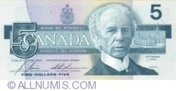 5 Dolari 1986 - semnaturi Bonin-Thiessen