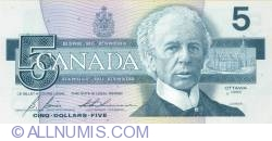 Image #1 of 5 Dollars 1986 - signatures Bonin-Thiessen