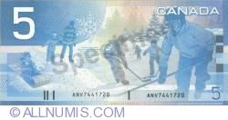 5 Dolari Canadieni 2002/2001