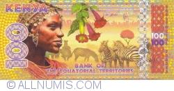 Imaginea #1 a 100 Franci Ecuatoriali 2015 (18. VI.) - Kenya