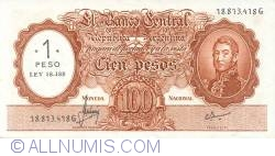 Imaginea #1 a 1 Peso On 100 Pesos ND (1969-71)