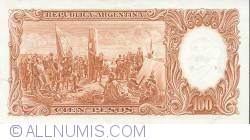 Imaginea #2 a 1 Peso On 100 Pesos ND (1969-71)