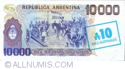 Imaginea #2 a 10 Australes 1985 - On Replacement Note