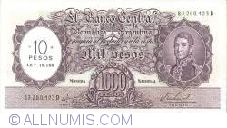 Imaginea #1 a 10 Pesos On 1000 Pesos ND (1969-71)