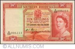 Imaginea #1 a 10 Shillings 1953 (3. I.)