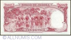 Imaginea #2 a 100 Escudos 1962 (10. VI.) - Serial number format variety