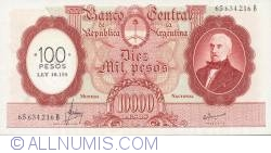 Imaginea #1 a 100 Pesos On 10 000 Pesos ND (1969-71) - Signature Variety