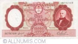 Image #1 of 10,000 Pesos ND (1961-1969) - signatures Egidio Iannella / Pedro E. Real