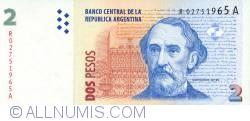 Image #1 of 2 Pesos ND (2002) - Replacement Note - Signatures Martín Pérez Redrado/ Alberto Edgardo Balestrini