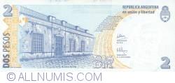 Image #2 of 2 Pesos ND (2002) - Replacement Note - Signatures Martín Pérez Redrado/ Alberto Edgardo Balestrini