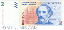 Imaginea #1 a 2 Pesos ND (2002)  - Semnătură Hernán Martín Pérez Redrado/ Eduardo Oscar Camaño