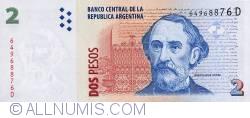 Image #1 of 2 Pesos ND (2002)  - Signatures Aldo Rubén Pignanelli/ Eduardo Oscar Camaño