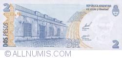 Image #2 of 2 Pesos ND (2002)  - Signatures Aldo Rubén Pignanelli/ Eduardo Oscar Camaño
