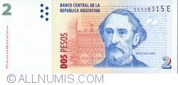 Imaginea #1 a 2 Pesos ND (2002) - semnături Alfonso Prat-Gay/ Eduardo Oscar Camaño