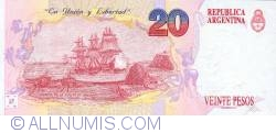 Image #2 of 20 Pesos ND (1992)