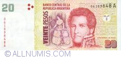 Image #1 of 20 pesos ND (1999-2003)