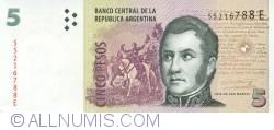 Imaginea #1 a 5 Pesos ND (2003) - semnături Hernán Martín Pérez Redrado / Julio César Cleto Cobos