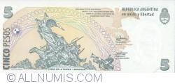 Imaginea #2 a 5 Pesos ND (2003) - semnături Hernán Martín Pérez Redrado / Julio César Cleto Cobos