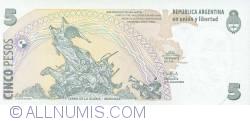 Image #2 of 5 Pesos ND (2003) - signatures Alfonso Prat-Gay / Daniel Scioli