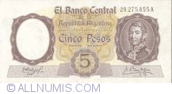 Image #1 of 5 Pesos ND (1960-62)