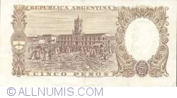 Image #2 of 5 Pesos ND (1960-62)
