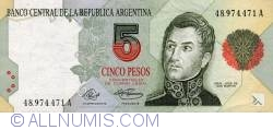 Image #1 of 5 Pesos ND (1992-1997)