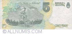 Image #2 of 5 Pesos ND (1992-1997)