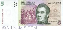 Image #1 of 5 Pesos ND (1998-2003)
