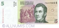 Image #1 of 5 Pesos ND (1998-2003) - Signature variation