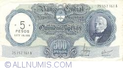 Imaginea #1 a 5 Pesos On 500 Pesos ND (1969-71)