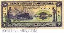 Image #1 of 5 Quetzales 1936 (29. II.)